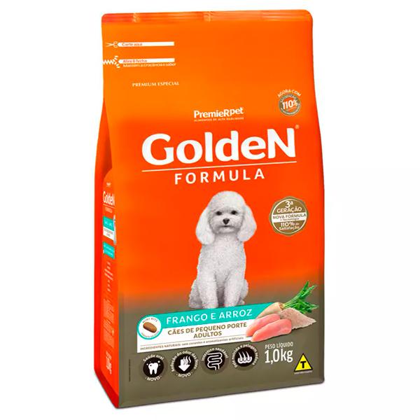 Ração Golden Fórmula Mini Bits Cães Adultos Pequeno Porte Frango e Arroz