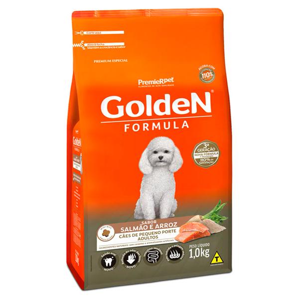 Ração Golden Fórmula Mini Bits Cães Adultos Pequeno Porte Salmão e Arroz