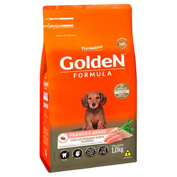 Ração Golden Fórmula Mini Bits Cães Filhotes Pequeno Porte Frango e Arroz