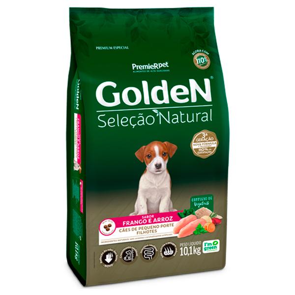 Ração Golden Seleção Natural  Mini Bits para Cães Filhotes de Pequeno Porte Sabor Frango e Arroz