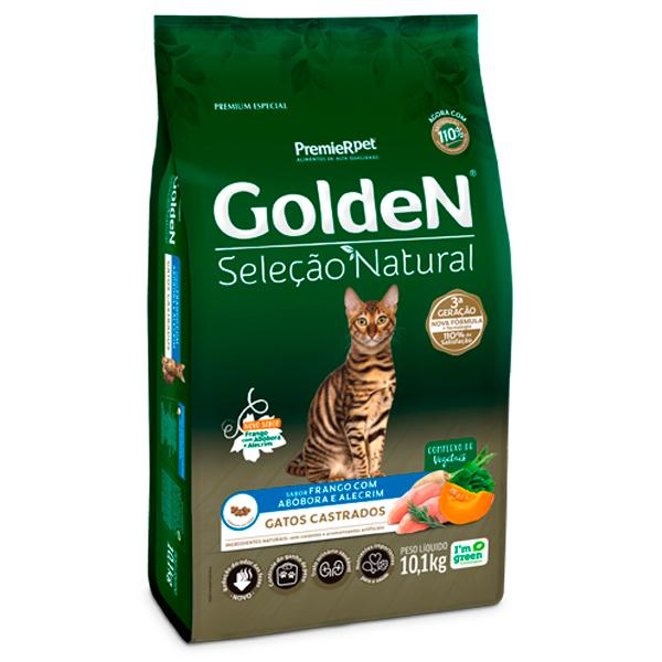 Ração Golden Seleção Natural Gatos Adultos Castrados  Abóbora