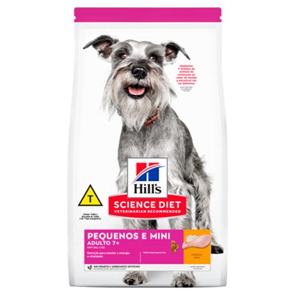 Ração Hill's para Cães Adultos 7+ de Porte Pequeno e Miniatura a partir de 7 anos de idade