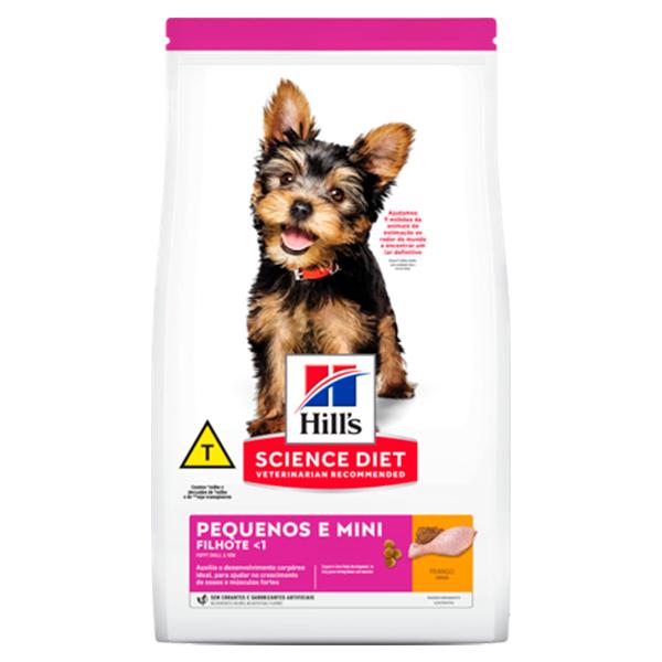 Ração Hill's para Cães Filhotes de Porte Pequeno e Miniatura - Sabor Frango