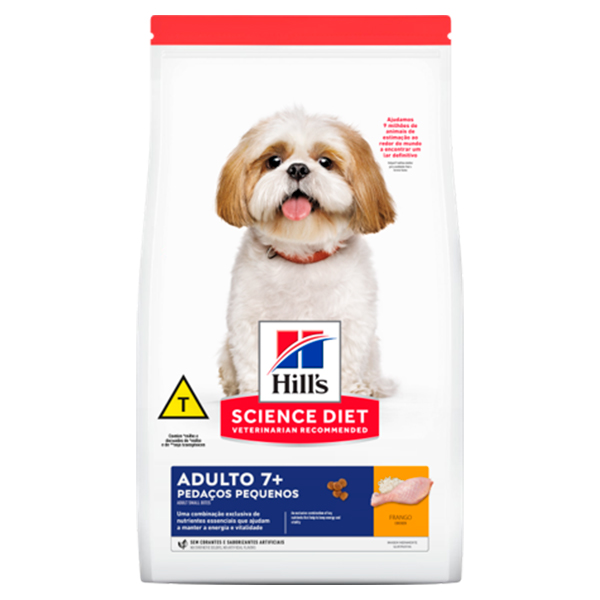 Ração Hill's Pedaços Pequenos para Cães Adultos 7+ a partir de 7 anos de idade - Sabor Frango