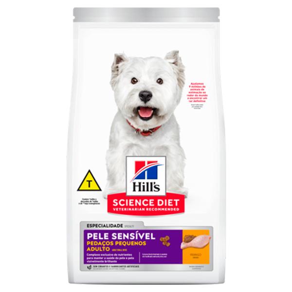 Ração Hill's Pedaços Pequenos para Cães Adultos de Pele Sensível