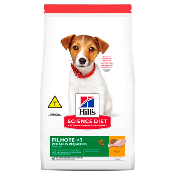 Ração Hill's Pedaços Pequenos para Cães Filhotes de Porte Pequeno e Miniatura - Sabor Frango