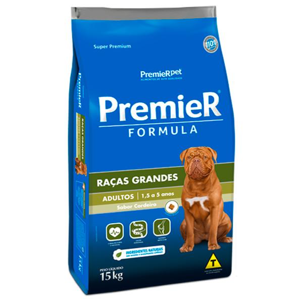 Ração Premier Formula Cães Adultos Porte Grande Cordeiro 15Kg