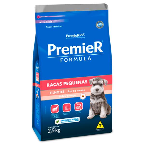 Ração Premier Fórmula para Cães Filhotes de Pequeno Porte Sabor Frango