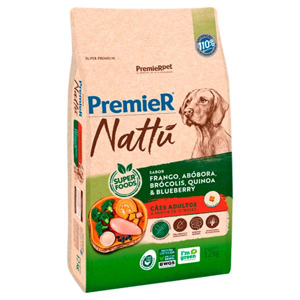 Ração Premier Nattu Cães Adultos Abóbora 12Kg