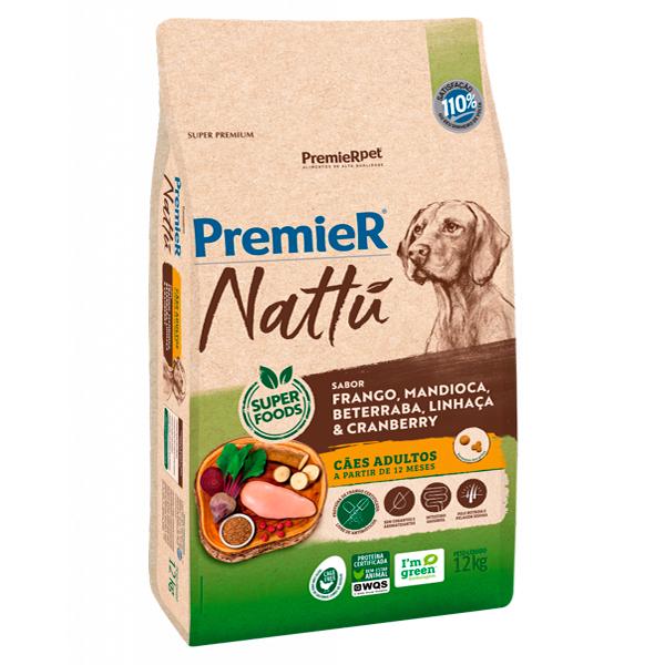 Ração Premier Nattu Cães Adultos Mandioca 12Kg