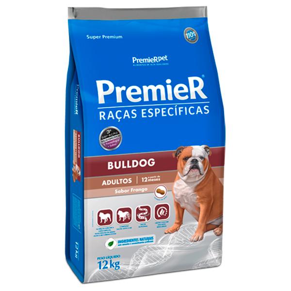 Ração Premier Raças Específicas Bulldog Cães Adultos 12Kg