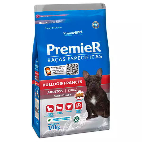 Ração Premier Raças Específicas Bulldog Francês Cães Adultos