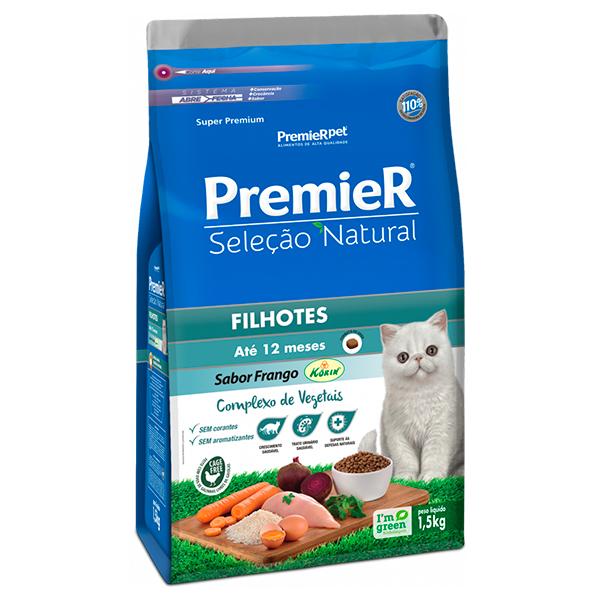 Ração Premier Seleção Natural Gatos Filhotes 1,5Kg
