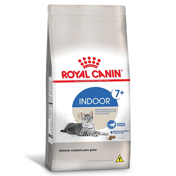 Ração Royal Canin Feline Health Nutrition Indoor 7 + para Gatos Adultos que Vivem em Ambientes Internos a partir de 7 anos de idade