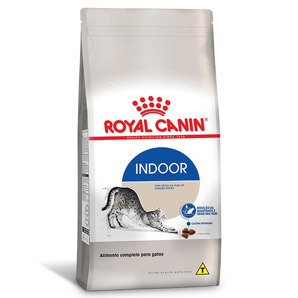 Ração Royal Canin Feline Health Nutrition Indoor para Gatos Adultos que Vivem em Ambientes Internos