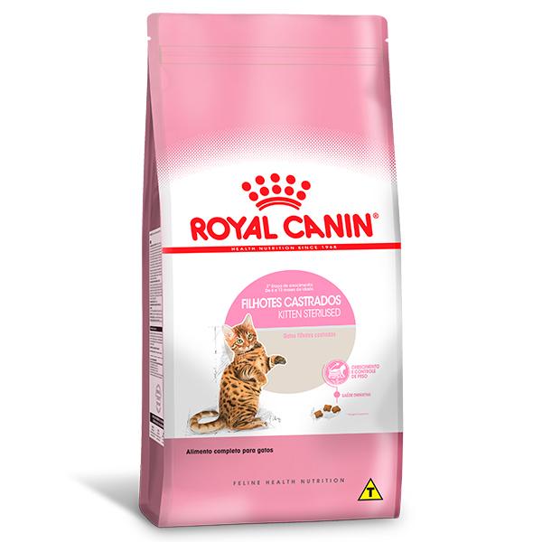 Ração Royal Canin Feline Health Nutrition Kitten Sterilised para Gatos Filhotes Castrados de 6 a 12 meses de idade