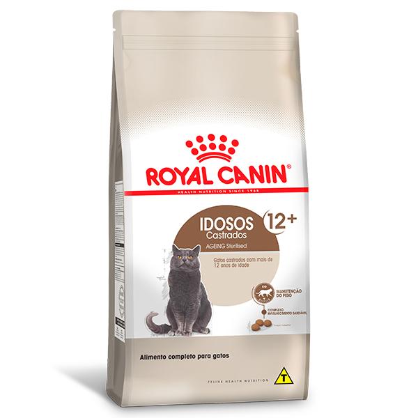Ração Royal Canin Feline Health Nutrition Sterilised 12+ para Gatos Adultos Castrados a partir de 12 anos de idade