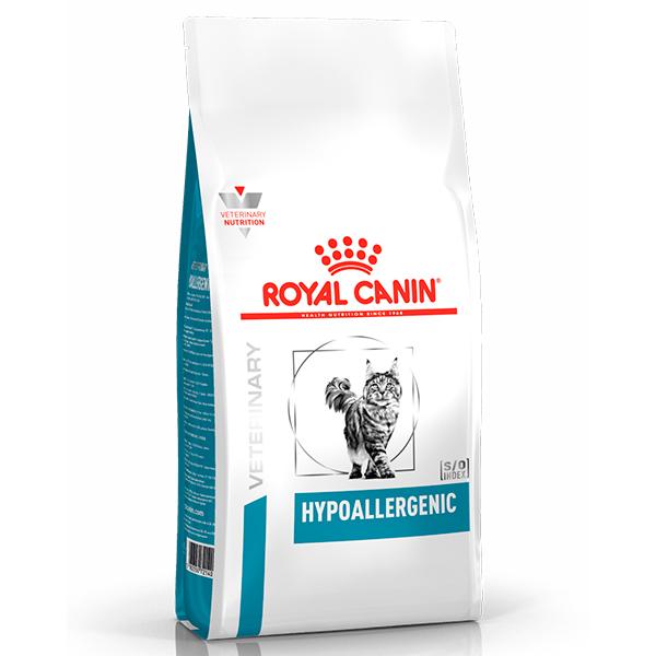 Ração Royal Canin Feline Veterinary Nutrition Hypoallergenic para Gatos com Tendência a Alergias