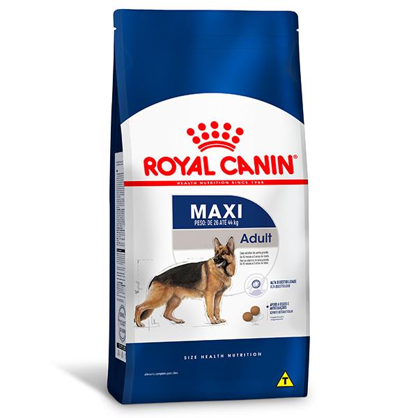 Ração Royal Canin Maxi Adult para Cães Adultos de Raças Grandes a partir de 15 meses de idade 15Kg