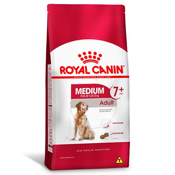 Ração Royal Canin Medium Adult 7+ para Cães Adultos de Raças Médias com 7 anos ou mais de idade 15Kg