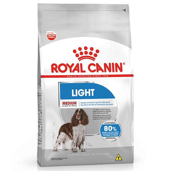 Ração Royal Canin Medium Light para Cães Adultos ou Idosos de Raças Médias com Tendência a Obesidade 15Kg