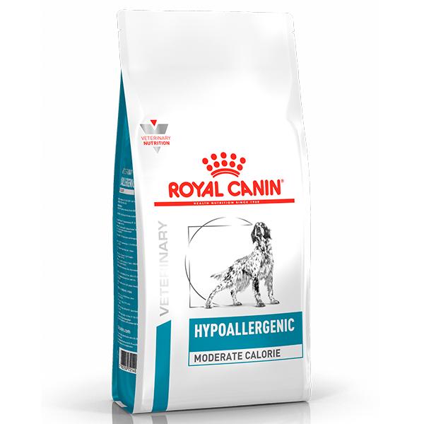 Ração Royal Canin Veterinary Nutrition Hypoallergenic Moderate Calorie para Cães Adultos