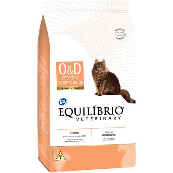 Ração Total Equilíbrio Veterinary Obesity & Diabetic para Gatos Adultos - 2Kg