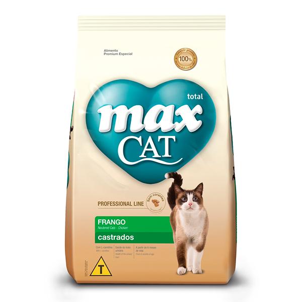 Ração Total Max Cat para Gatos Castrados sabor Frango - 10,1Kg