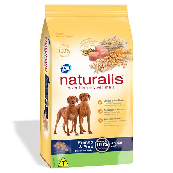 Ração Total Naturalis para Cães Adultos sabor Frango e Peru - 15Kg