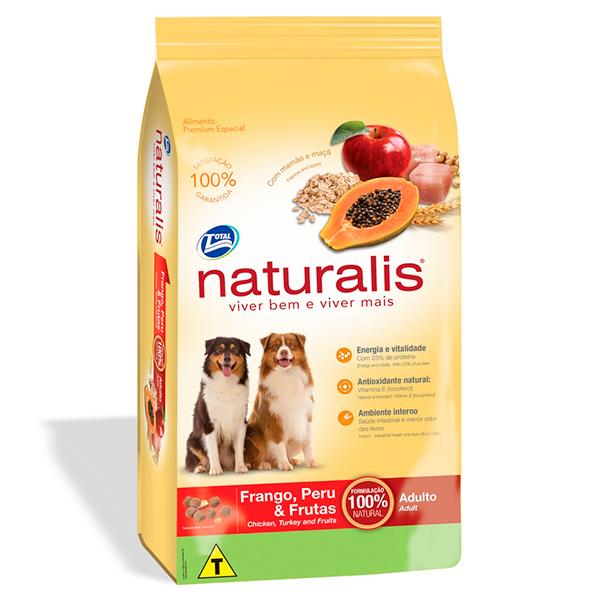 Ração Total Naturalis para Cães Adultos sabor Frango Peru e Frutas - 15Kg