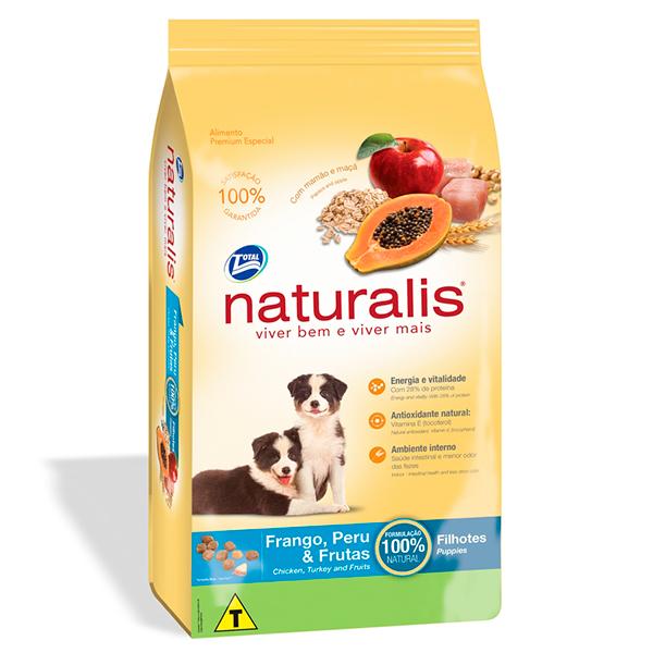 Ração Total Naturalis para Cães Filhotes sabor Frango Peru e Frutas - 15Kg