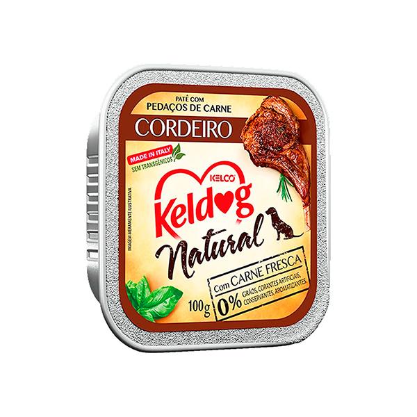 Ração Úmida Keldog Natural para Cães - sabor Cordeiro 100g