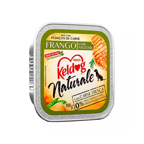 Ração Úmida Keldog Natural para Cães - sabor Frango com Vegetais 100g