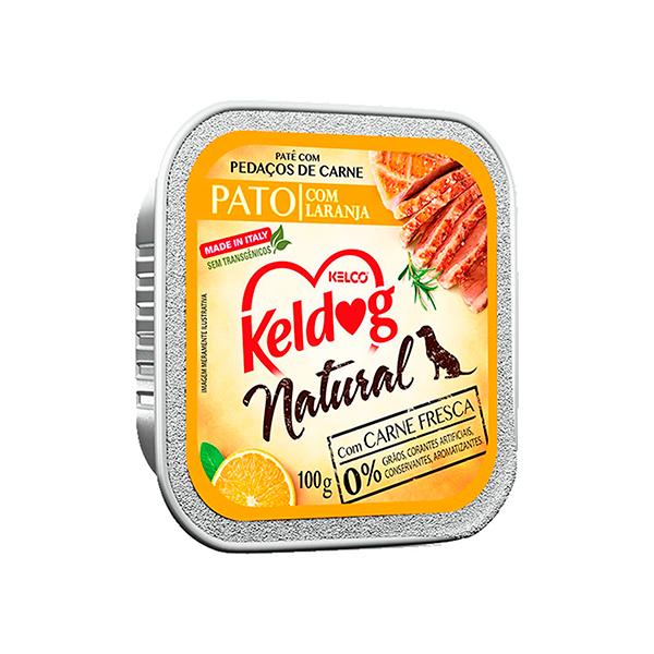 Ração Úmida Keldog Natural para Cães - sabor Pato com Laranja 100g