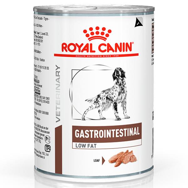 Ração Úmida Royal Canin Lata Veterinary Nutrition Gastro Intestinal Low Fat Wet para Cães 410g