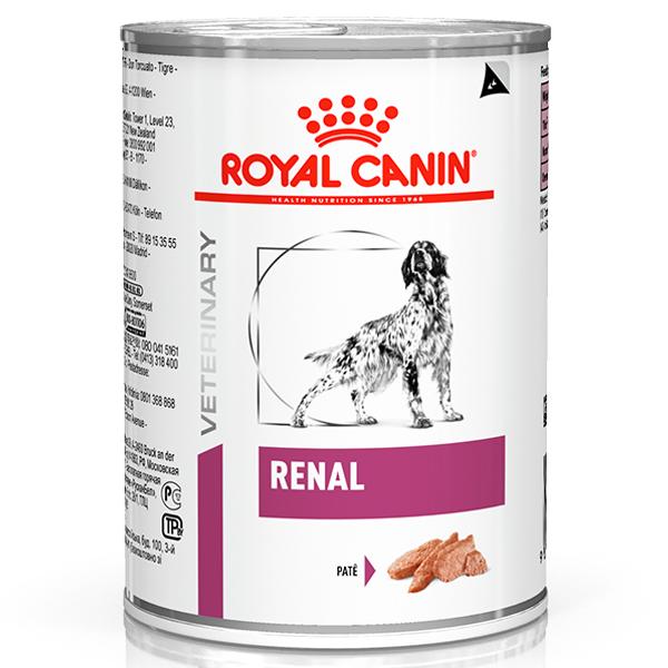 Ração Úmida Royal Canin Lata Veterinary Nutrition Renal Wet Para Cães com Insuficiência Renal