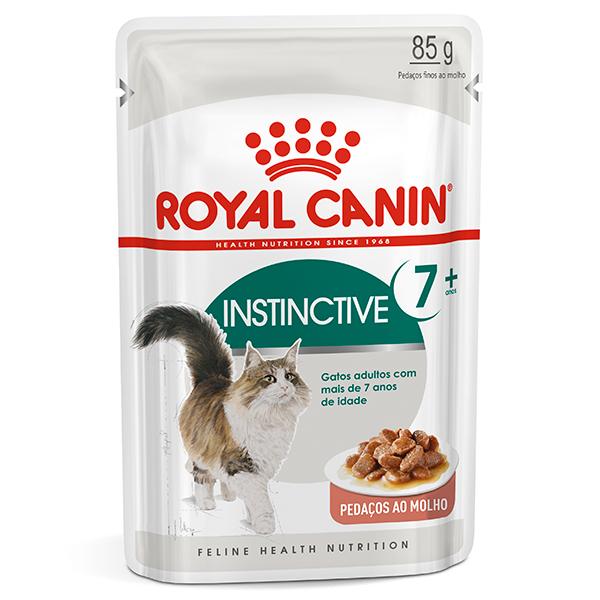 Ração Úmida Royal Canin Sachê Feline Health Nutrition Instinctive +7 para Gatos Adultos a partir de 7 anos de idade 85g
