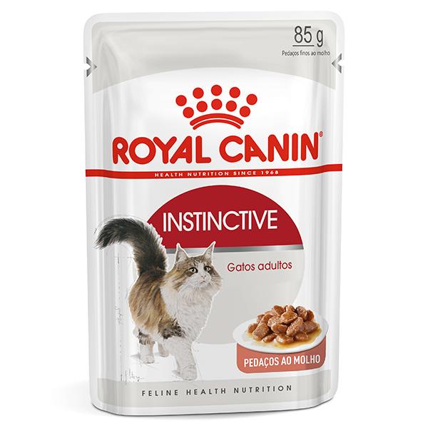Ração Úmida Royal Canin Sachê Feline Instinctive para Gatos Adultos com idade a partir de 12 meses de idade 85g