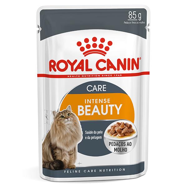 Ração Úmida Royal Canin Sachê Feline Intense Beauty para Gatos 85g