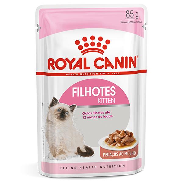 Ração Úmida Royal Canin Sachê Feline Kitten Instinctive para Gatos Filhotes de até 12 meses 85g