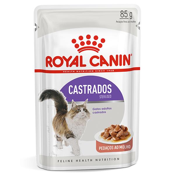 Ração Úmida Royal Canin Sachê Feline Sterilised para Gatos Castrados 85g