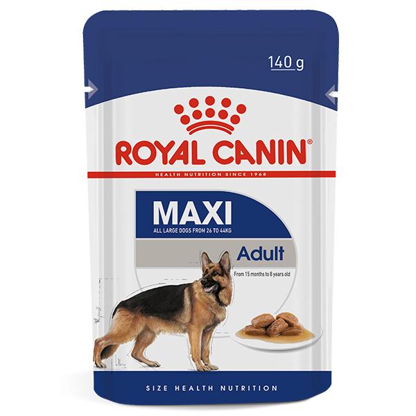 Ração Úmida Royal Canin Sachê Maxi Adult Wet para Cães Adultos de Raças Grandes 140g