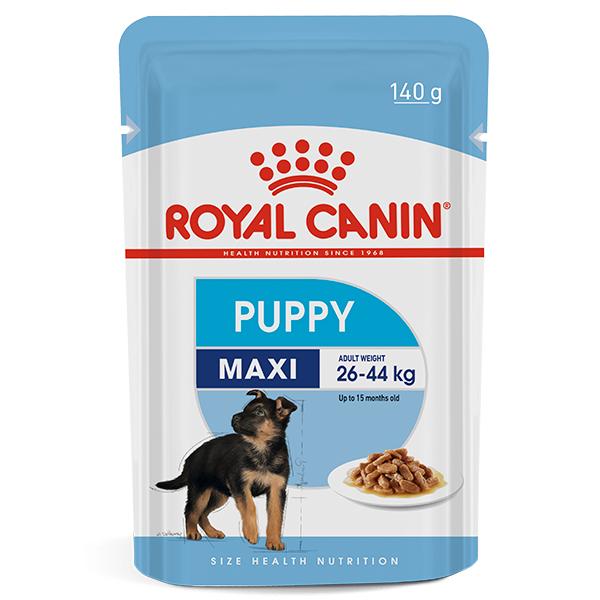 Ração Úmida Royal Canin Sachê Maxi Puppy Wet para Cães Filhotes de Raças Grandes 140g