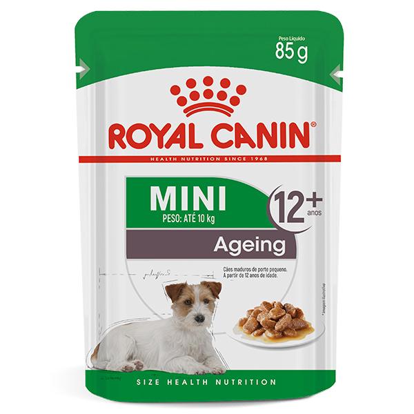 Ração Úmida Royal Canin Sachê Mini Ageing 12+ Wet para Cães Idosos de Raças Pequenas acima de 12 anos de idade 85g