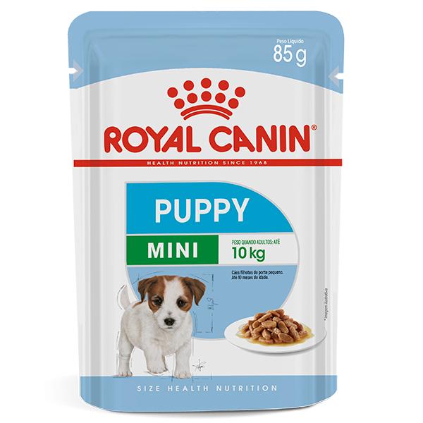 Ração Úmida Royal Canin Sachê Mini Puppy Wet para Cães Filhotes de Raças Pequenas 85g