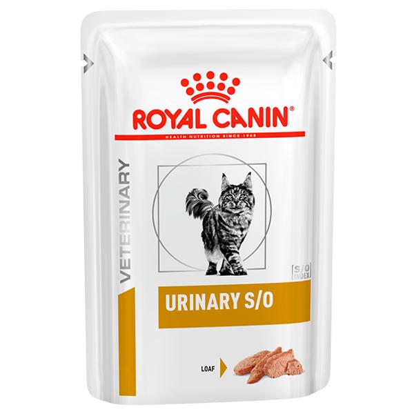 Ração Úmida Royal Canin Sachê para Gatos Veterinary Nutrition Urinary S/O Feline Wet para Gatos com Cálculos Urinários 85g
