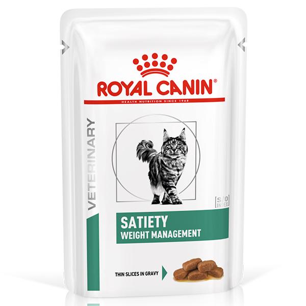 Ração Úmida Royal Canin Sachê Satiety Weight Management Para Gatos 85g