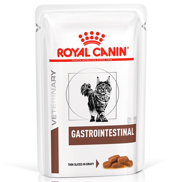 Ração Úmida Royal Canin Sachê Veterinary Nutrition S/O Gastrointestinal Feline para Gatos com Distúrbios Gastrointestinais 85g