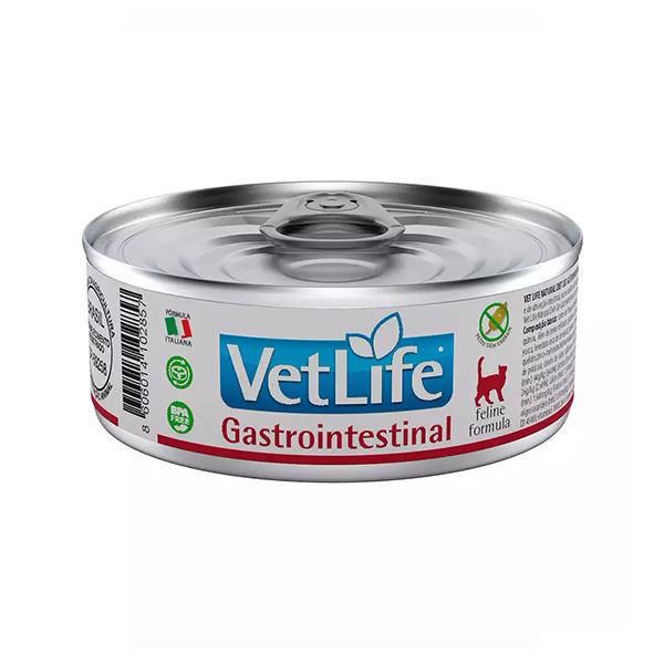 Ração Úmida Vet Life Lata Gastrointestinal para Gatos 85g