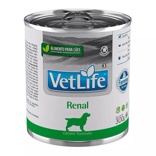 Ração Úmida Vet Life Lata Renal para Cães 300g